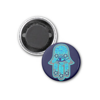 Hand of Fatima hamsa 1 Inch Round Magnet
