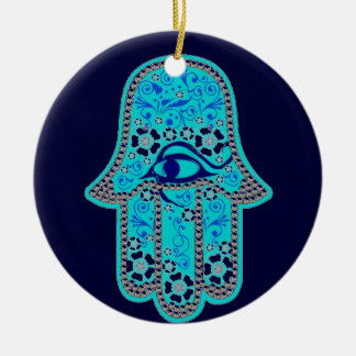 Hand of Fatima hamsa ornament