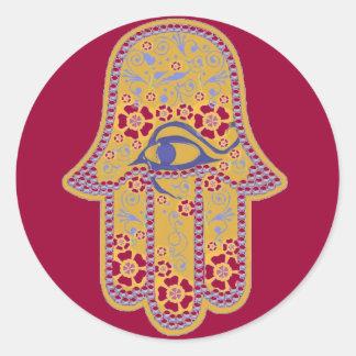 Hand of Fatima hamsa Round Sticker
