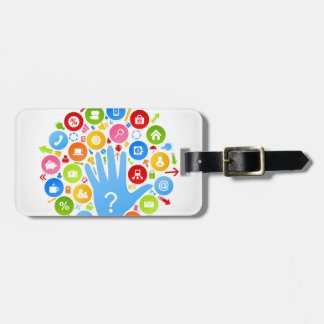 Hand office2 luggage tag