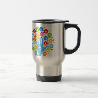 Hand office2 travel mug