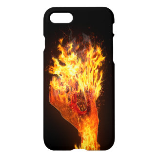 Hand on fire iPhone 7 case