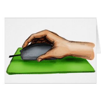 Hand on Mouse Card