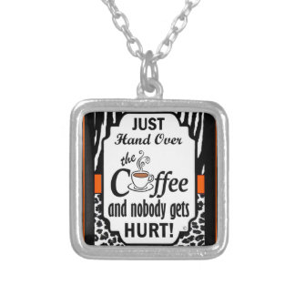 Hand Over the Coffee Silver Plated Necklace