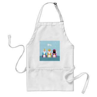 Hand painted 3 kings standard apron