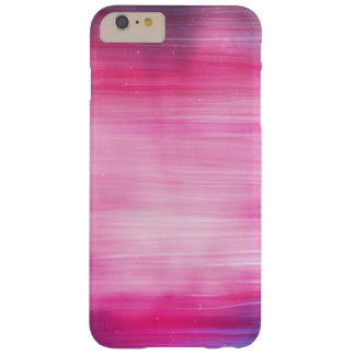 Hand Painted Abstract Pretty Pink And Purple Barely There iPhone 6 Plus Case