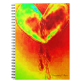 Hand Painted Bleeding Heart Notebook