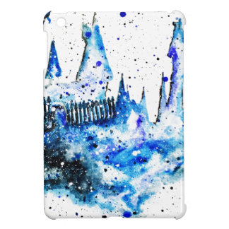 Hand Painted Blue Medieval Castle iPad Mini Case