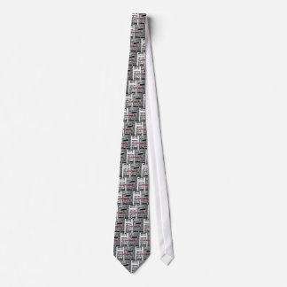 Hand painted Brick Tie