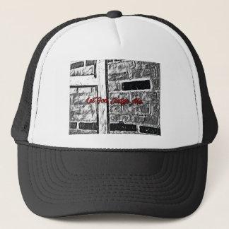 Hand painted Brick Trucker Hat