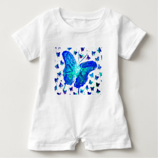 Hand Painted Butterfly Baby Romper