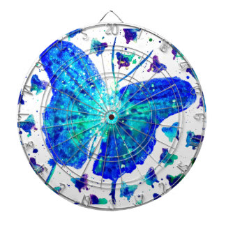Hand Painted Butterfly Dartboard