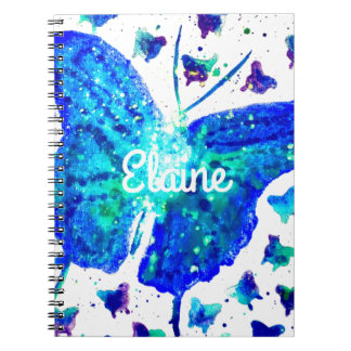 Hand Painted Butterfly Notebook