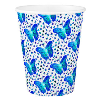 Hand Painted Butterfly Paper Cup