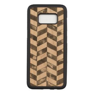 Hand Painted Chevron Carved Samsung Galaxy S8 Case