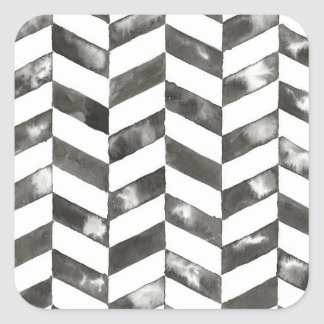 Hand Painted Chevron Print Square Sticker