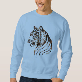 Hand Painted Chocolate Tiger Art Men's Sweater