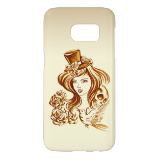 Hand Painted Coffee Art Samsung Galaxy S7 Case