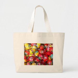 Hand-painted-Easter-eggs Large Tote Bag