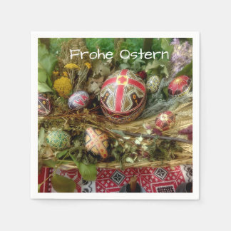 Hand Painted Easter Eggs Ostern Paper Napkin