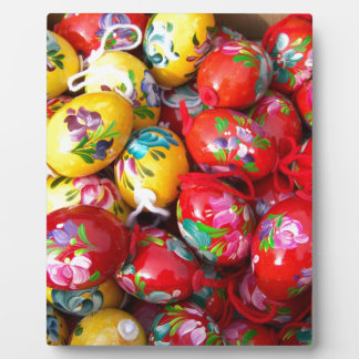 Hand-painted-Easter-eggs Plaque
