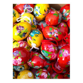 Hand-painted-Easter-eggs Postcard
