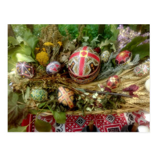 Hand Painted Easter Eggs Postcard