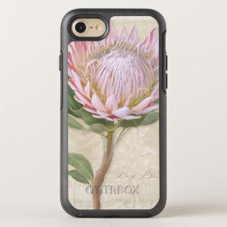 Hand Painted Elegant Pink Protea Flower Vintage OtterBox Symmetry iPhone 7 Case