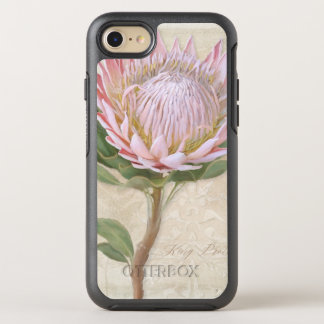 Hand Painted Elegant Pink Protea Flower Vintage OtterBox Symmetry iPhone 8/7 Case