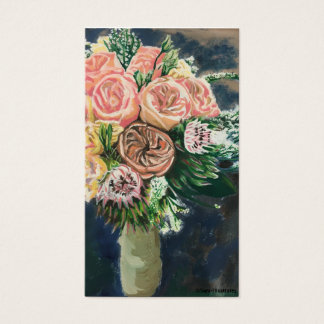 Hand Painted Floral Business Card