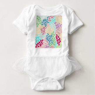 Hand Painted Flower Shower Baby Bodysuit