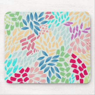 Hand Painted Flower Shower Mouse Pad