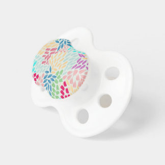 Hand Painted Flower Shower Pacifier