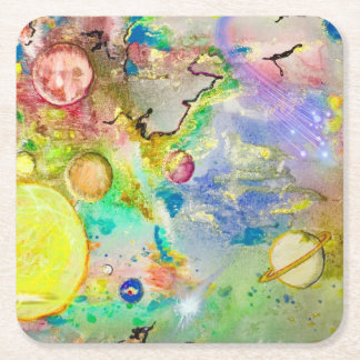 Hand Painted Galaxy Coaster