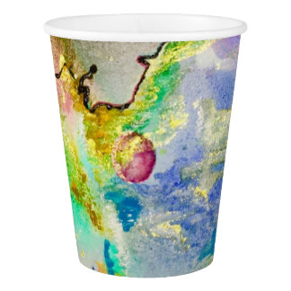 Hand Painted Galaxy Paper Cup