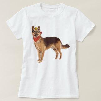 Hand-painted Hipster German Shepherd Dog T-Shirt