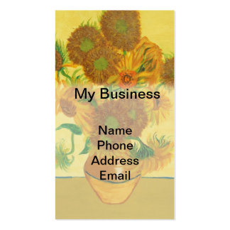 Hand Painted Image of  Sunflowers in Vase Business Card