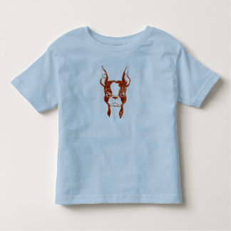 Hand Painted Ketchup Art Dog Toddler's T-shirt