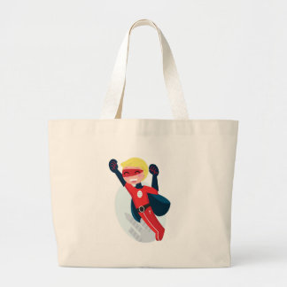 Hand painted little Hero flying Large Tote Bag