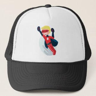 Hand painted little Hero flying Trucker Hat