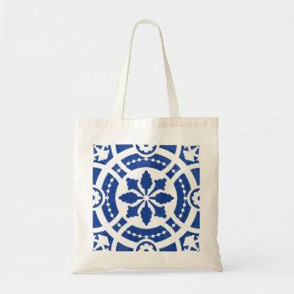 Hand-painted original portuguese tile tote bag