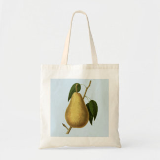 Hand Painted Pear Fruit Tote Bag