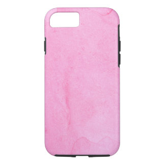Hand painted pink watercolor textures iPhone 8/7 case
