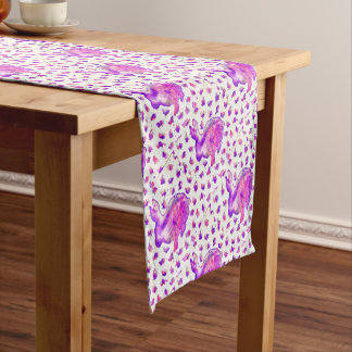 Hand Painted Purple Bunny Table Runner
