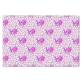 Hand Painted Purple Bunny Tissue Paper