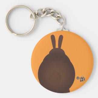 Hand Painted Rabbit Basic Round Button Keychain