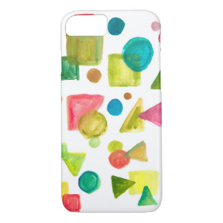 hand painted shapes iPhone 8/7 case