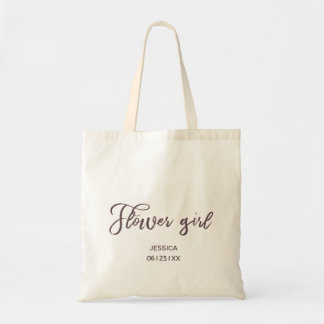 Hand Painted Style   Flower Girl Tote