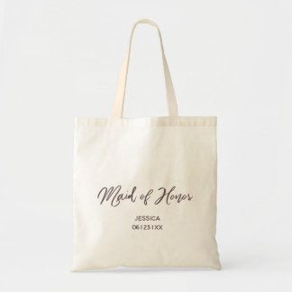 Hand Painted Style   Maid of Honor Tote