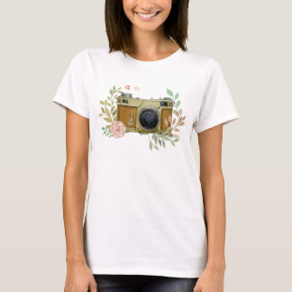 Hand Painted Vintage Camera T-Shirt